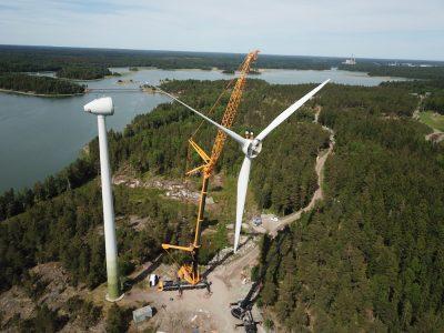 Demontage von gebrauchten Turbinen